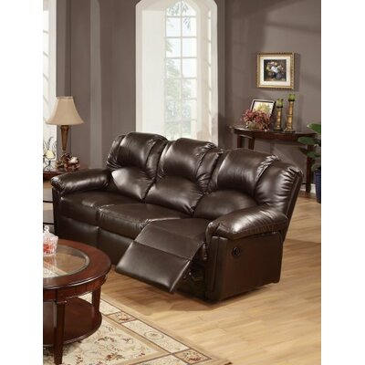 Cannady Reclining Sofa Upholstery: Espresso