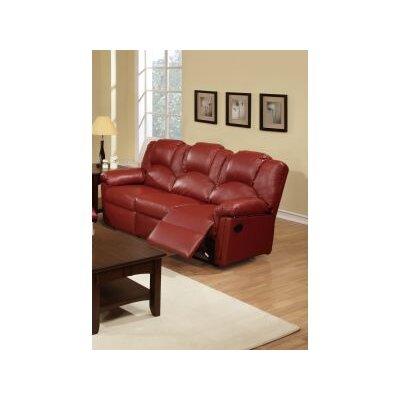 Cannady Reclining Sofa Upholstery: Burgundy
