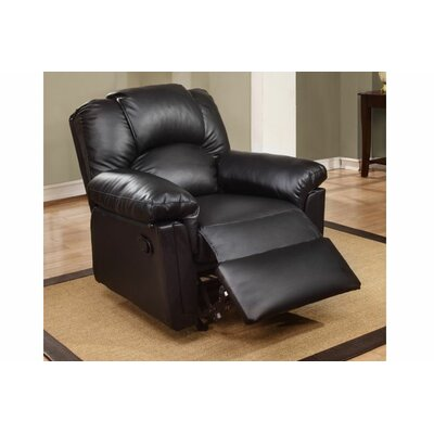 Cannady Manual Rocker Recliner Upholstery: Black