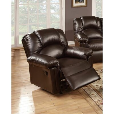 Cannady Manual Rocker Recliner Upholstery: Espresso