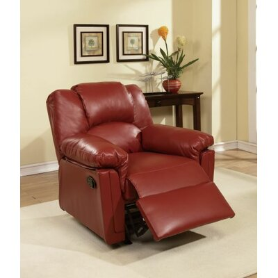 Cannady Manual Rocker Recliner Upholstery: Burgundy