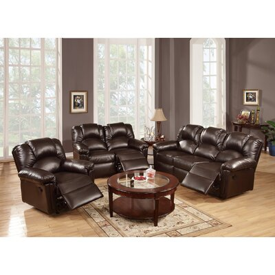 Cannady 3 Piece Living Room Set Upholstery: Espresso