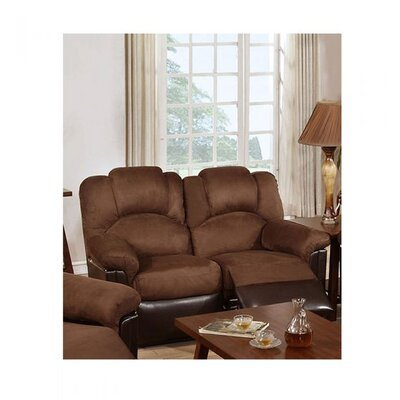 Cannella Reclining Loveseat Upholstery: Chocolate