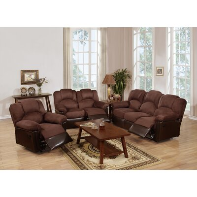Cannady 3 Piece Living Room Set Upholstery: Chocolate