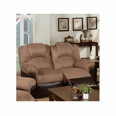 Cannella Reclining Loveseat Upholstery: Saddle/Brown