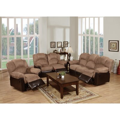Cannady 3 Piece Living Room Set Upholstery: Saddle/Brown