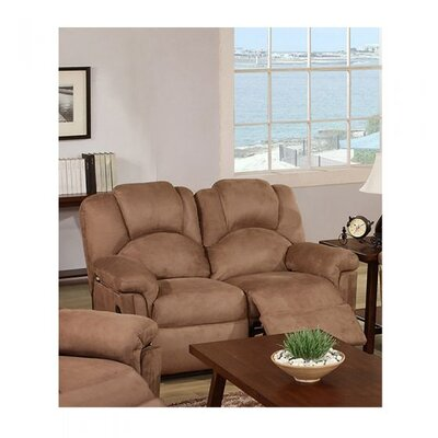 Cannella Reclining Loveseat Upholstery: Saddle