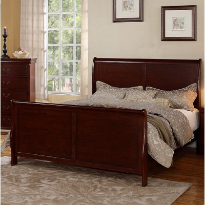 Alvin Sleigh Bed Size: Queen, Color: Cherry