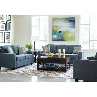 Chiesa 3 Piece Living Room Set Upholstery: Blue