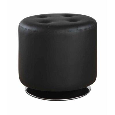 Hunnicutt Ottoman Upholstery: Black