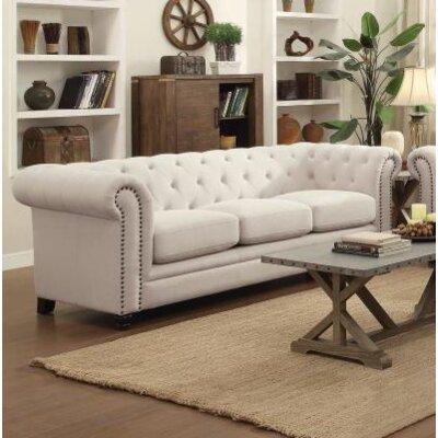 Cozine Chesterfield Sofa Upholstery: Oatmeal