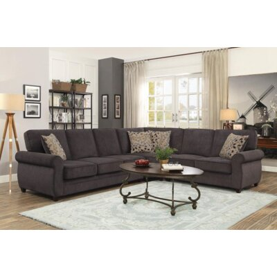 Steinman Sectional Upholstery: Chocolate