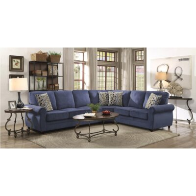 Steinman Sectional Upholstery: Blue