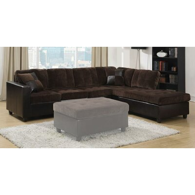 Swayne Reversible Sectional Upholstery : Dark Brown