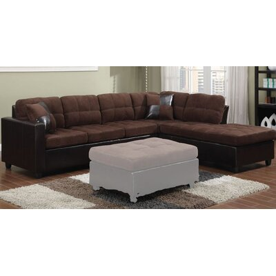 Swayne Reversible Sectional Upholstery : Chocolate
