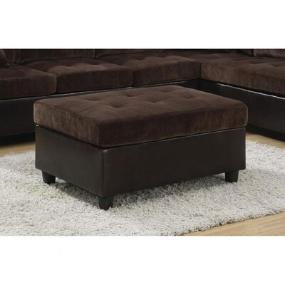 Swayne Cocktail Ottoman Upholstery : Dark Brown