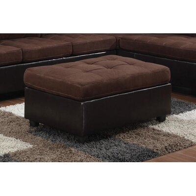 Swayne Ottoman Upholstery : Chocolate