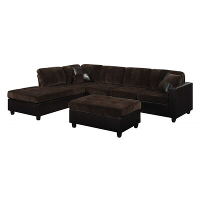 Swayne 2 Piece Living Room Set Upholstery : Dark Brown