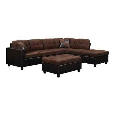 Swayne 2 Piece Living Room Set Upholstery : Chocolate