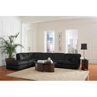 Kelston Mills 6 Piece Living Room Set Upholstery: Black