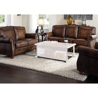 Drumaduan 4 Piece Leather Living Room Set