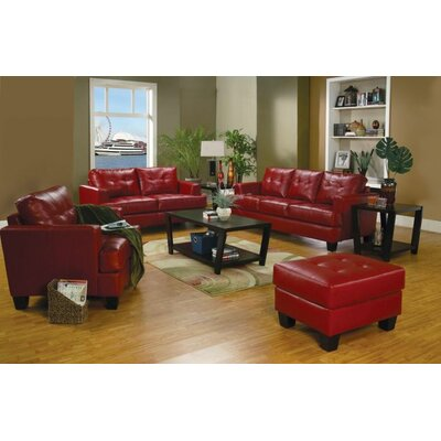 Kelch 4 Piece Living Room Set Upholstery: Red