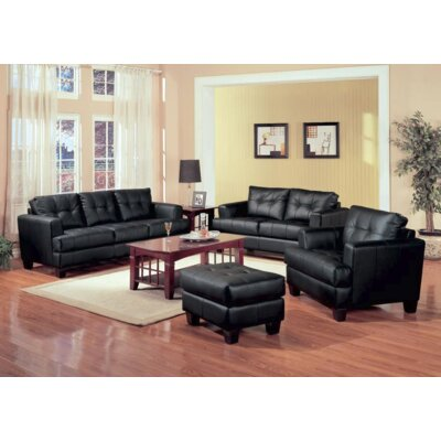 Kelch 4 Piece Living Room Set Upholstery: Black