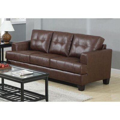 Kelch Sofa Upholstery: Dark Brown