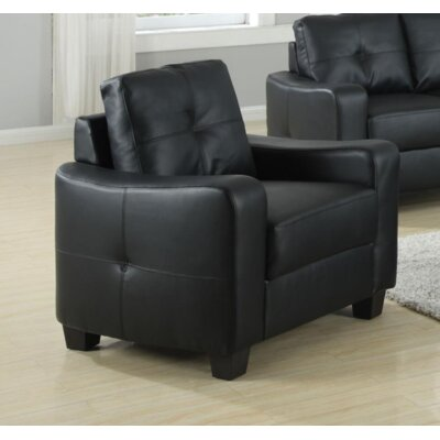 Mendonca Armchair Upholstery: Black