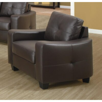 Mendonca Armchair Upholstery: Dark Brown