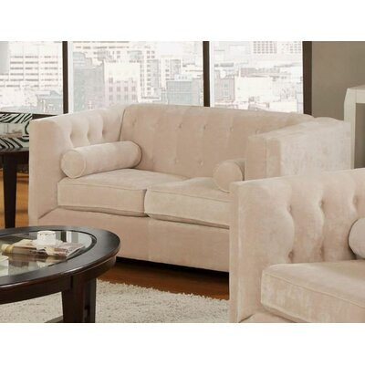 Kulick Loveseat Color: Almond