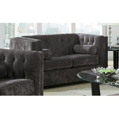Kulick Loveseat Color: Charcoal
