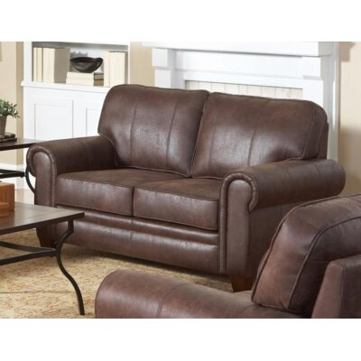 Krout Genuine Leather Loveseat