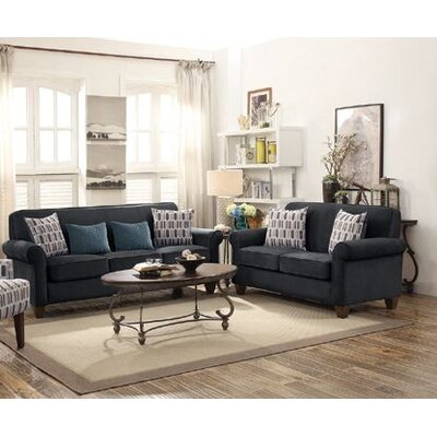 Heflin 2 Piece Living Room Set Color: Graphite