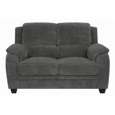 Creamer Loveseat Upholstery: Charcoal