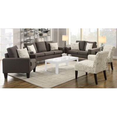 Creasey 3 Piece Living Room Set Upholstery: Gray