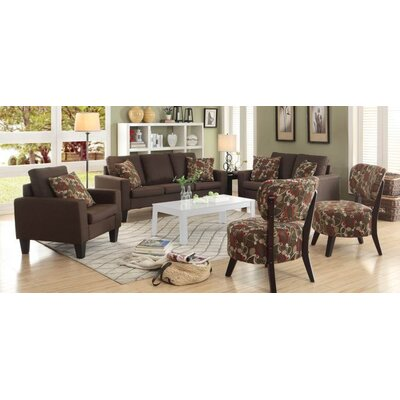 Creasey 3 Piece Living Room Set Upholstery: Chocolate