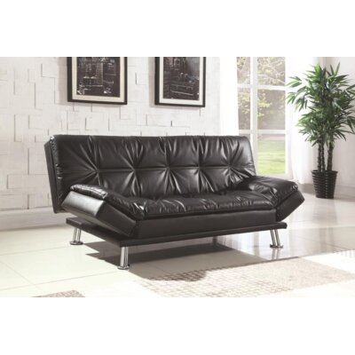 Renfro Convertible Sleeper Sofa Upholstery: Black