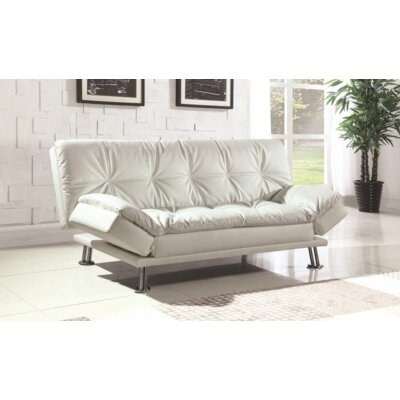 Renfro Convertible Sleeper Sofa Upholstery: White