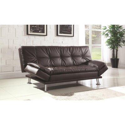 Renfro Convertible Sleeper Sofa Upholstery: Brown