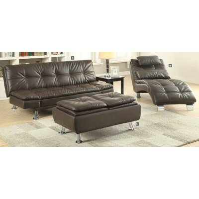 Renfro Configurable 3 Piece Living Room Set Upholstery: Brown