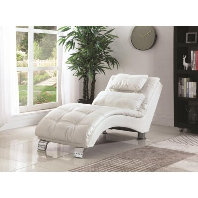 Renfro Chaise Lounge Upholstery: White