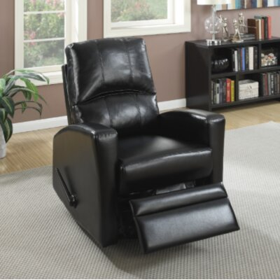 Yeary Manual Swivel Recliner Upholstery: Black