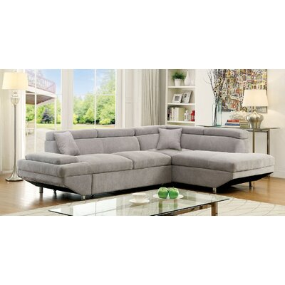 Tamalenus Sleeper Sectional Upholstery: Gray, Orientation: Right Hand Facing