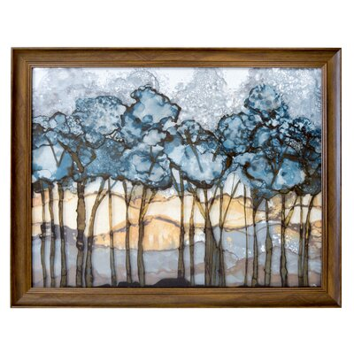 'Forest' Framed Acrylic Painting Print on Glass