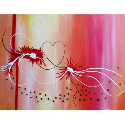 'Mating Dance' Acrylic Painting Print on Canvas Size: 18