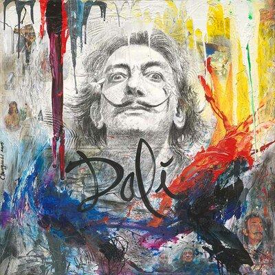 'Salvador Dali I' Acrylic Painting Print on Canvas Size: 18