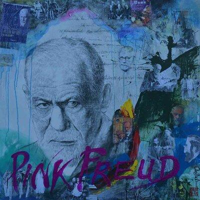 'Sigmund Freud' Acrylic Painting Print on Canvas Size: 18