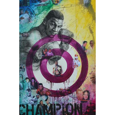 'Mike Tyson' Acrylic Painting Print on Canvas Size: 27