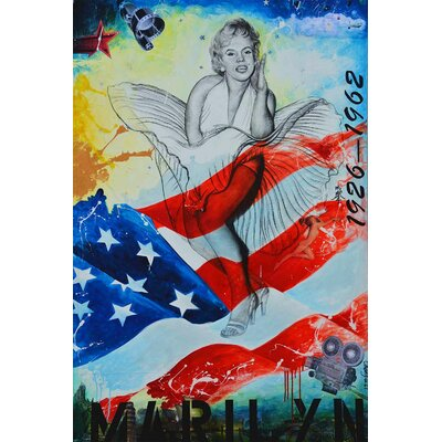 'Marilyn Monroe' Acrylic Painting Print on Canvas Size: 27